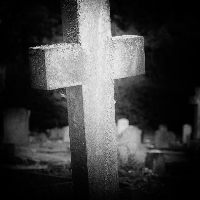 """Spooky Headstone"" stock image"