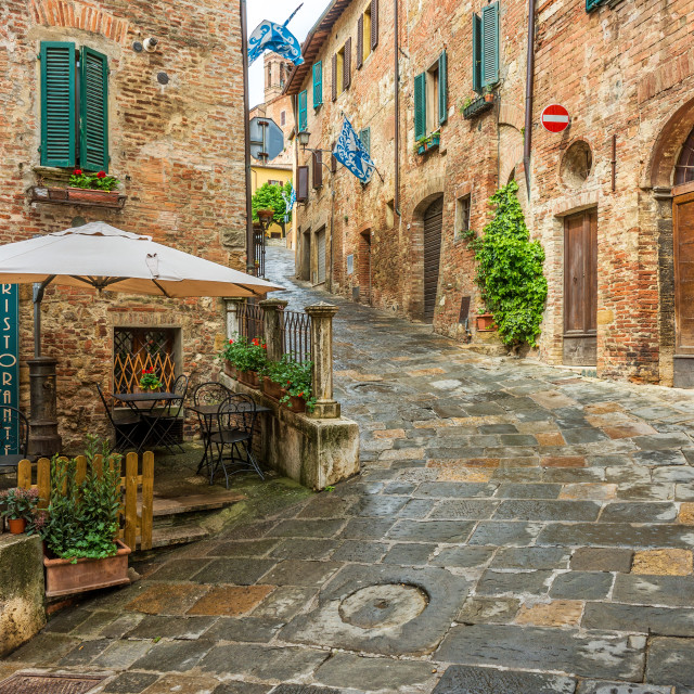 """""""Beautiful alley in Montepulciano, Tuscany, Italy"""" stock image"""
