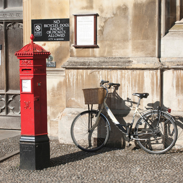 """Victorian Postbox"" stock image"