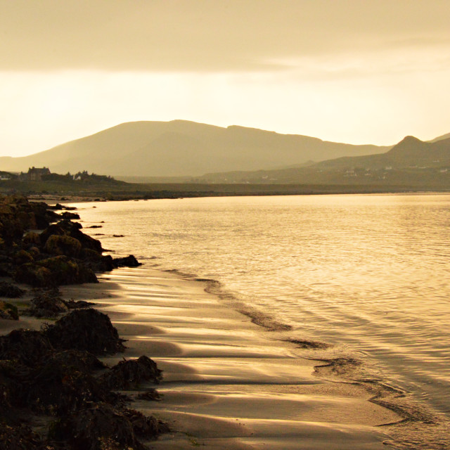 """Staffin Beach at Dusk"" stock image"