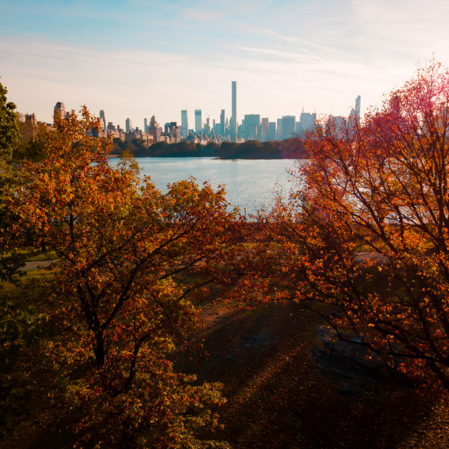 """""""New york at autumn aerial"""" stock image"""