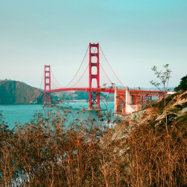 """""""Golden Gate bridge during the day"""" stock image"""
