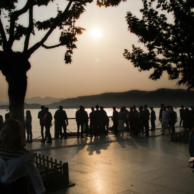 """""""West Lake, Hangzhou"""" stock image"""