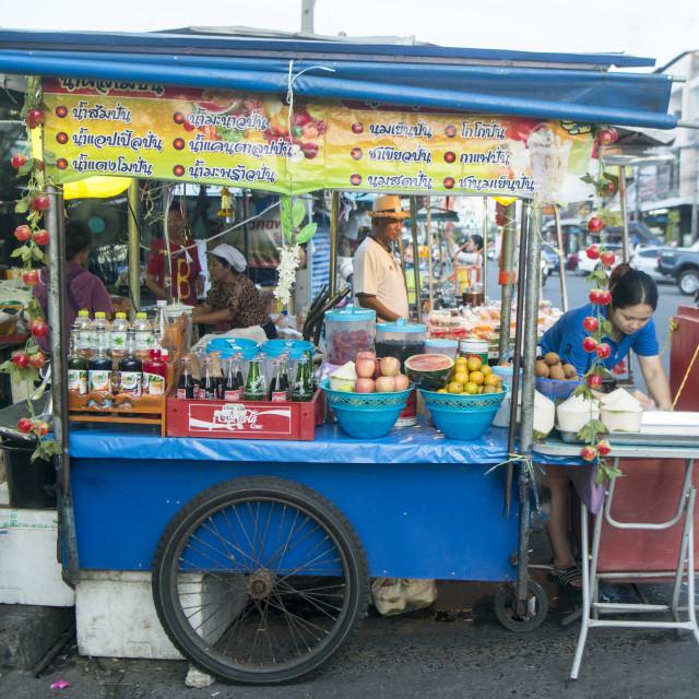 """""""THAILAND ISAN SURIN MARKET STREET FOOD"""" stock image"""