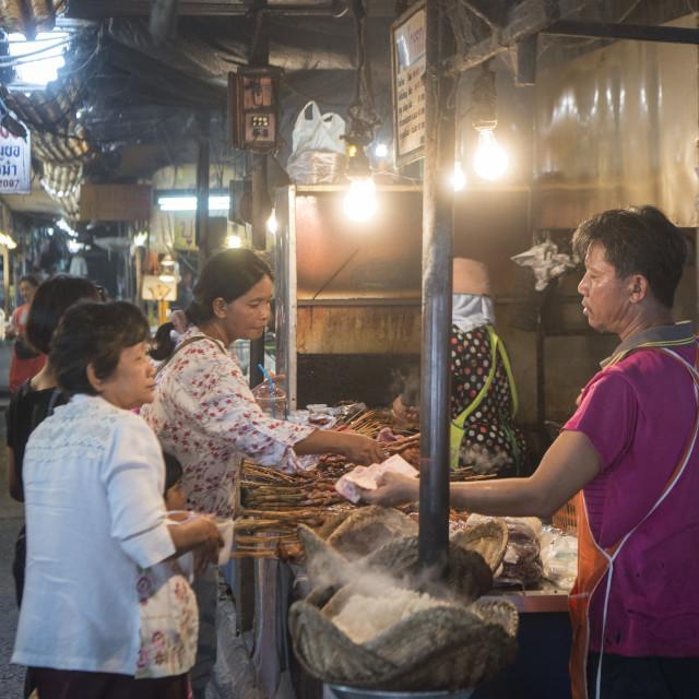 """THAILAND ISAN SURIN MARKET"" stock image"