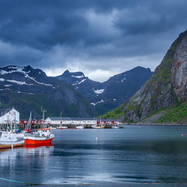 """Harbour Lofoten"" stock image"