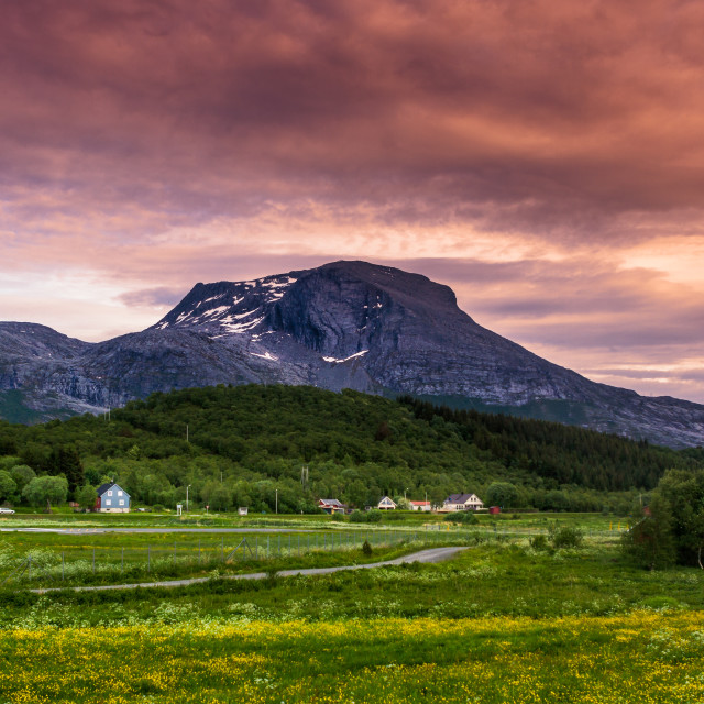 """Mountains of Norway"" stock image"