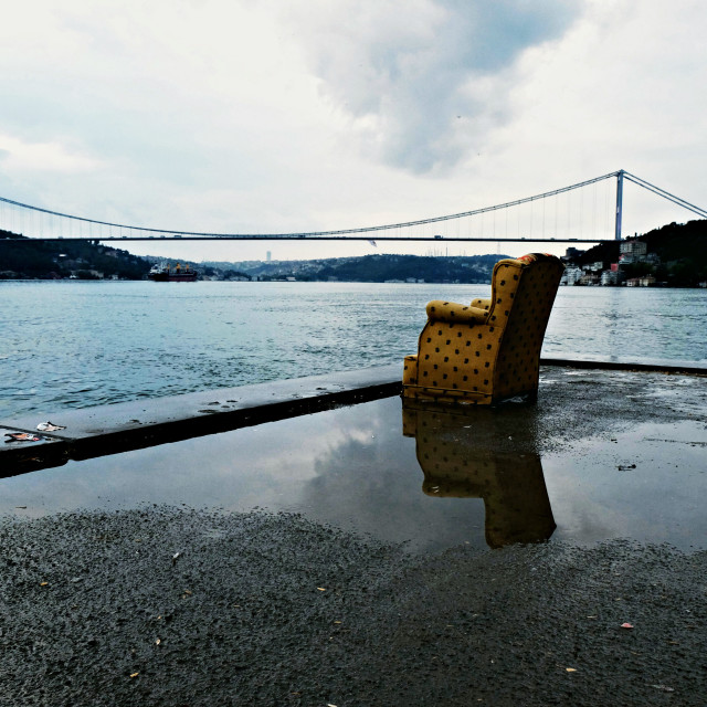 """A rainy morning in Istanbul"" stock image"