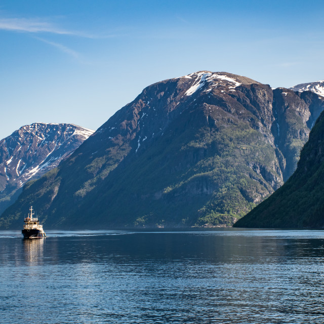 """Tourist Boats Near Hellesylt"" stock image"