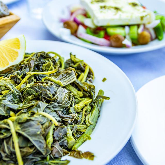 """Chorta - Greek Salad"" stock image"