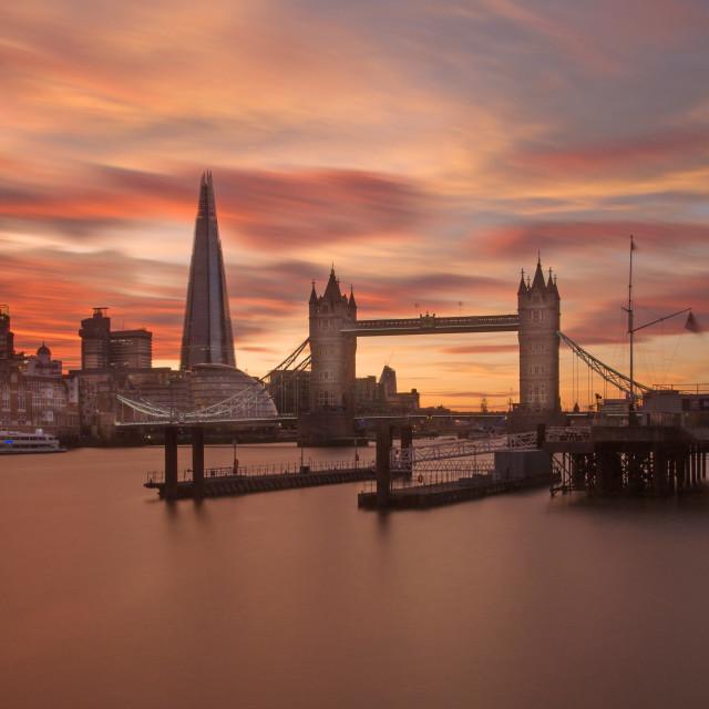 """London Shard And Tower Bridge"" stock image"