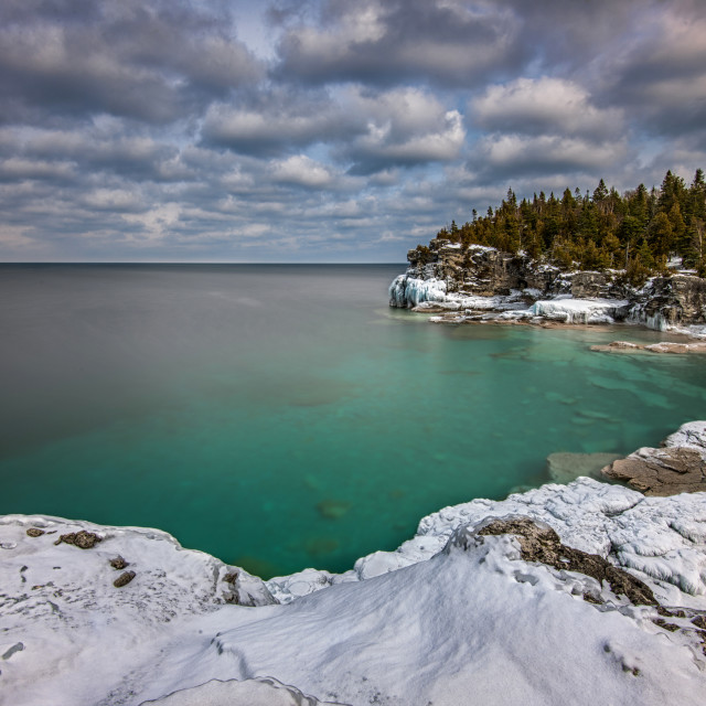 """Indian Head Cove, Tobermory Ontario"" stock image"