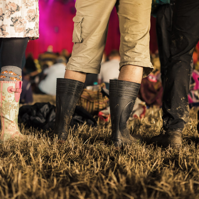 """Festival wellies"" stock image"