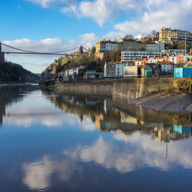"""Clifton reflections"" stock image"