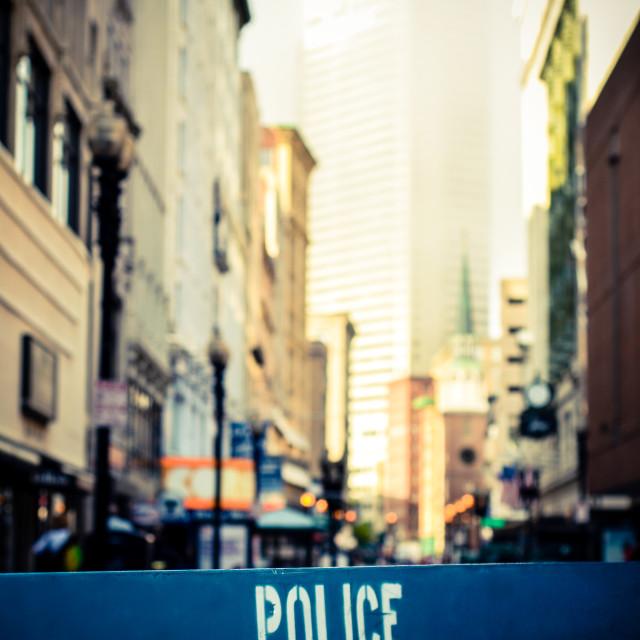 """""""Retro City Crime Scene"""" stock image"""