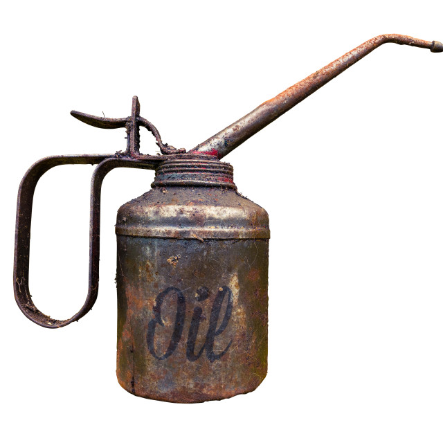 """""""Vintage Oil Can"""" stock image"""