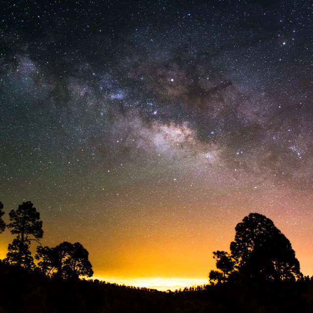 """Milky Way - Tenerife"" stock image"