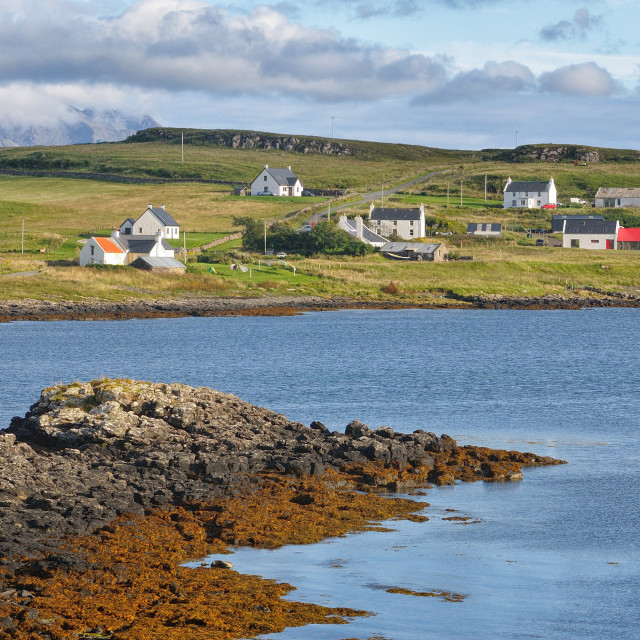 """Crofting village on the west coast of Skye"" stock image"