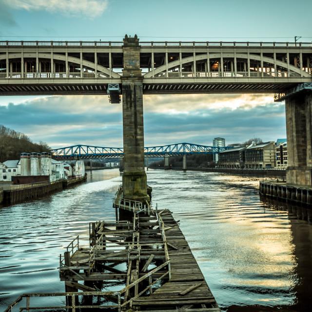 """High Level bridge, Newcastle upon Tyne"" stock image"