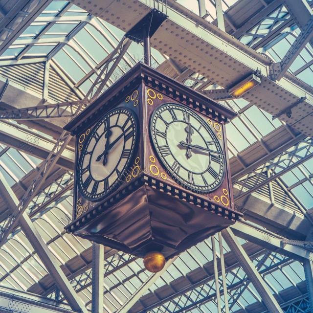 """""""Vintage Station Clock"""" stock image"""