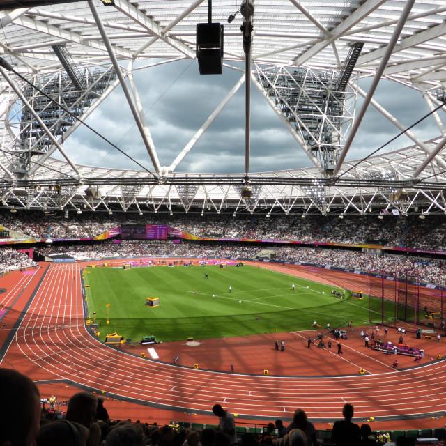 """The London Stadium"" stock image"