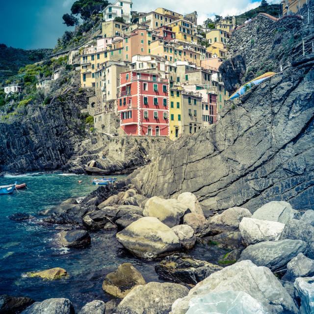 """Town In Italian Riviera"" stock image"