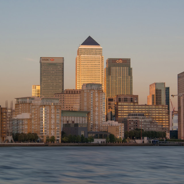 """Canary Wharf London"" stock image"