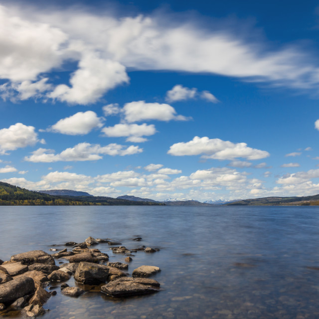 """Alone by Loch Rannoch, Nine Months Later"" stock image"