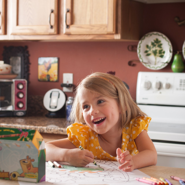 """Child coloring"" stock image"