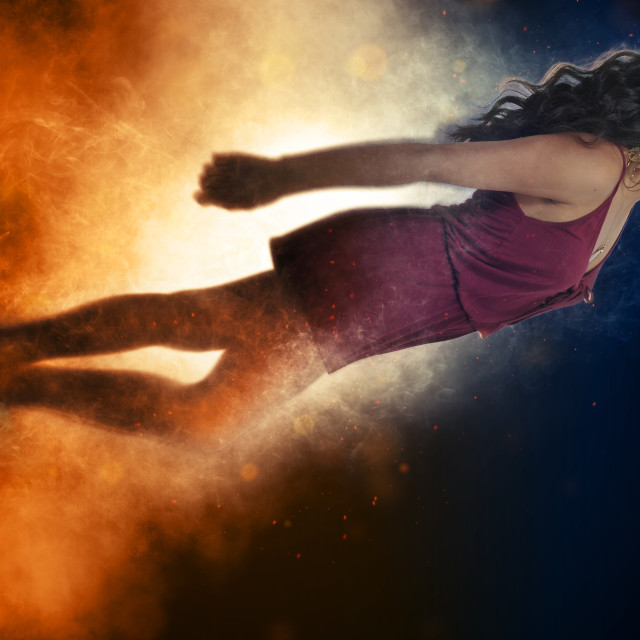 """Falling or Flying Woman"" stock image"