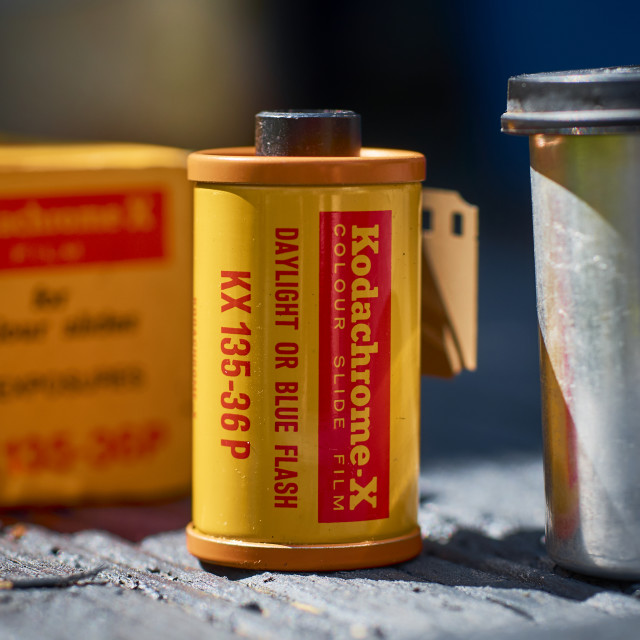 """Kodak Kodachrome 35mm Transparency Film"" stock image"