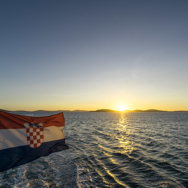 """Sailing in Croatia"" stock image"