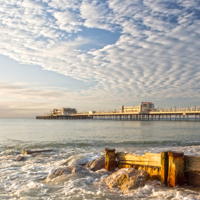 """Worthing Beach West Sussex"" stock image"