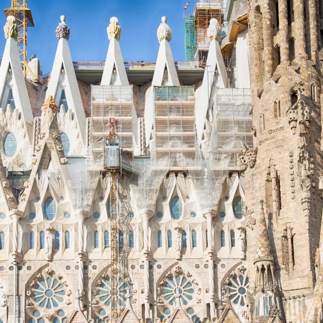 """""""Sagrada Familia in Barcelona, Spain"""" stock image"""