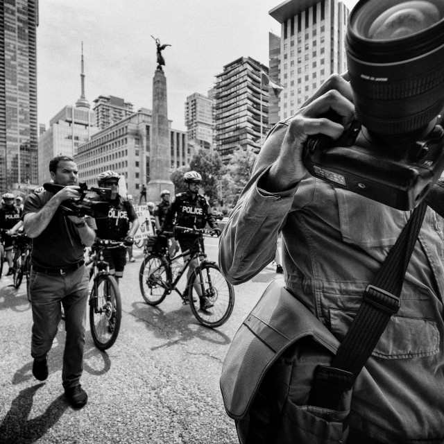 """Follow Me: a photojournalist's perspective"" stock image"