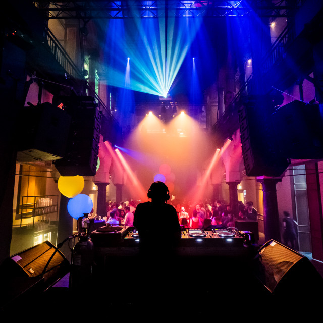 """""""DJ Silhouette"""" stock image"""