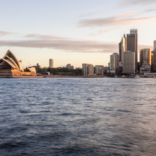 """""""sunset at Sydney Harbour"""" stock image"""