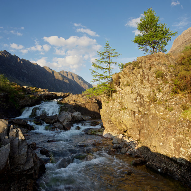 """The River Coe"" stock image"