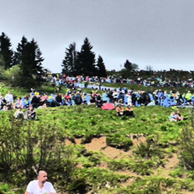 """""""Mont Zoncolan Giro D'Italia"""" stock image"""