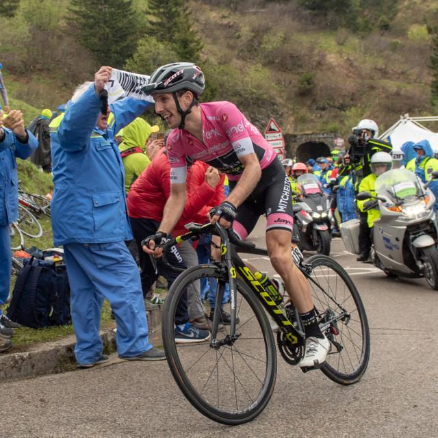 """Simon Yates Pink Jersey Giro D'Italia 2018"" stock image"