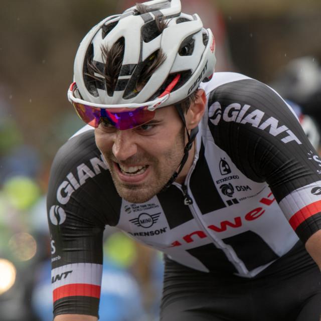 """Tom Dumoulin Giro D'Italia 2018 Zoncolan"" stock image"