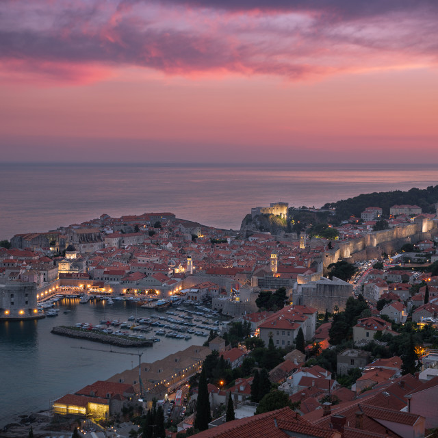 """A Beautiful Sunset in Dubrovnik, CroatiaBeautiful"" stock image"