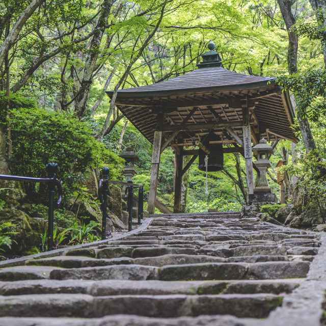 """Stairs to Mitaki"" stock image"
