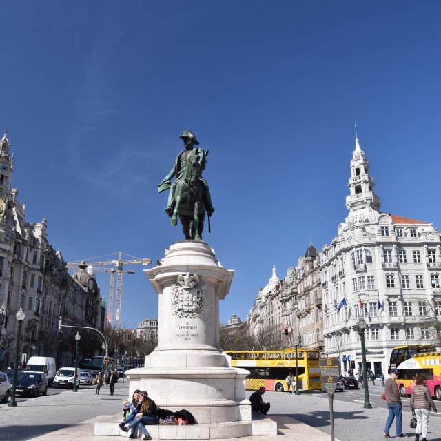 """Liberdade Square, Porto"" stock image"