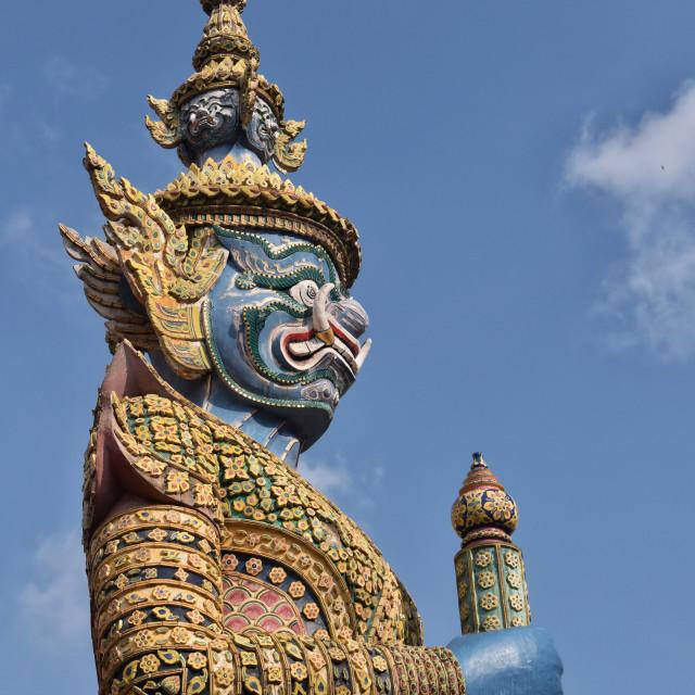"""Yak statue at Grand Palace, Bangkok"" stock image"