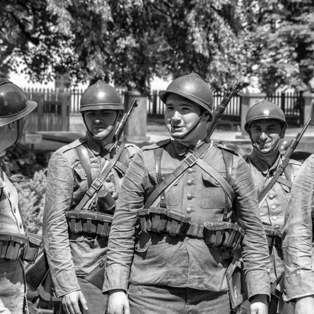 """""""Polish Army at war"""" stock image"""
