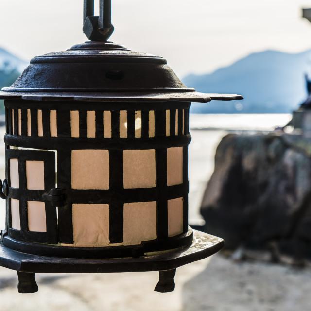"""Miyajima Lantern"" stock image"