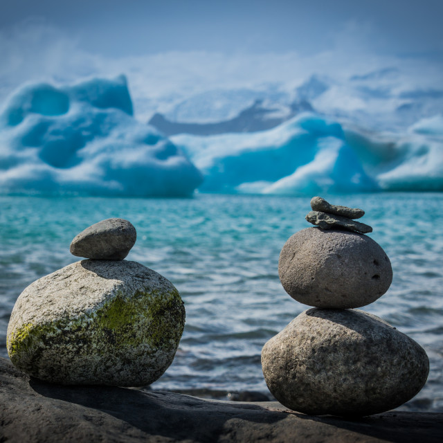 """Stones & Ice"" stock image"