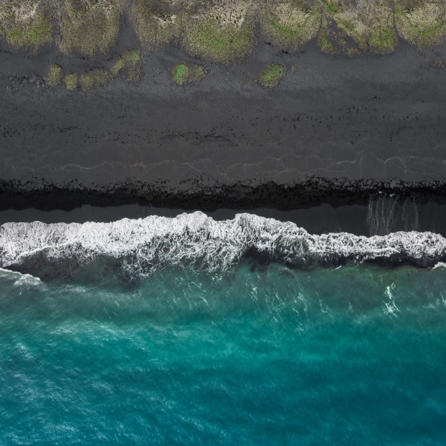 """Black beach"" stock image"