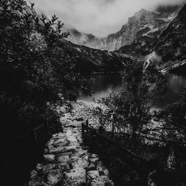 """""""Morskie Oko lake i Tatras mountain, Zakopane, Poland"""" stock image"""
